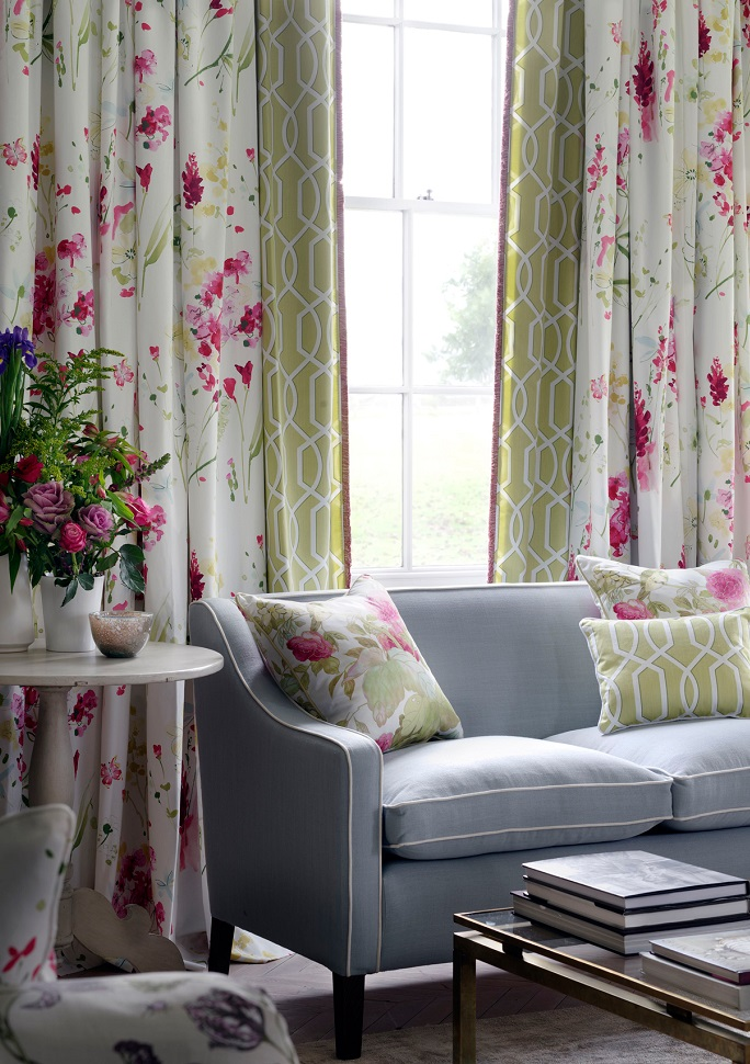 Made to Measure Curtains Floral curtains Green