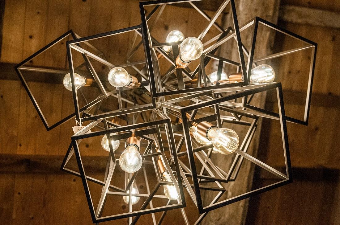 Lighting bottom view of modern hanging ligts